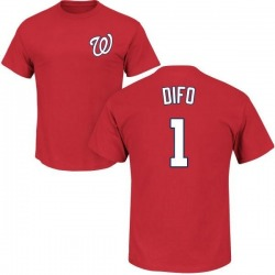 Men's Wilmer Difo Washington Nationals Roster Name & Number T-Shirt - Red