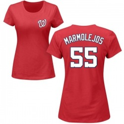 Women's Jose Marmolejos Washington Nationals Roster Name & Number T-Shirt - Red