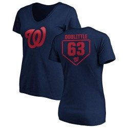 Women's Sean Doolittle Washington Nationals RBI Slim Fit V-Neck T-Shirt - Navy