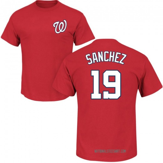 Youth Anibal Sanchez Washington Nationals Roster Name & Number T-Shirt - Red