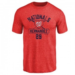 Youth Yadiel Hernandez Washington Nationals Base Runner Tri-Blend T-Shirt - Red